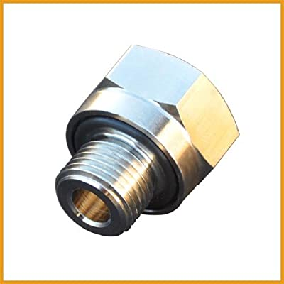 EZ (A-106) Silver 14mm-1.5 Thread Size Oil Drain Valve Adapter: Automotive
