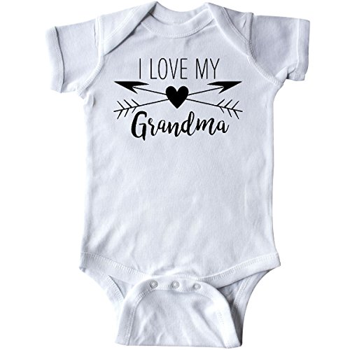 inktastic - I Love My Grandma Heart and Infant Creeper Newborn White 2a522 ()