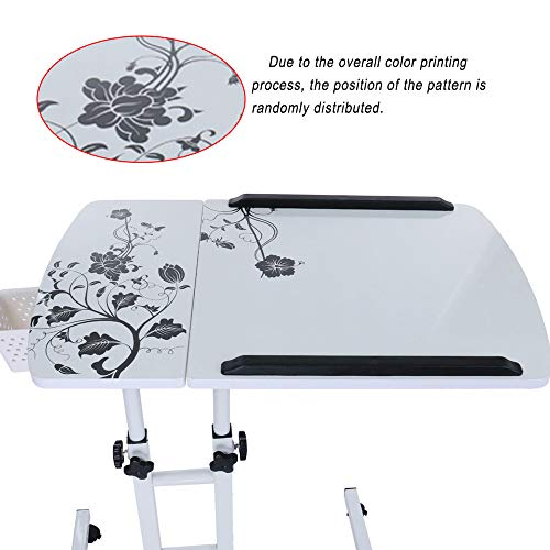 Lucoo Laptop Desk Folding Computer Desk Household Can Be Lifted and Folded 64cm40cm (White) by Lucoo (Image #7)