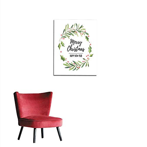 longbuyer Wallpaper Watercolor Illustration Christmas Laurel Wreath Perfect for Invitations Greeting Cards blogs Posters and More Merry Christmas and Happy New Year Mural 20