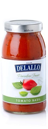 (DeLallo Pomodoro Fresco Tomato Basil Pasta Sauce, 25.25-Ounce Jar (Pack of 6))