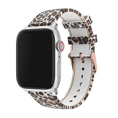 Amawell Floral Bands Compatible with Apple Watch 38mm 42mm 40mm 44mm,Soft Silicone Pattern Printed Band Replacement Wrist Strap Compatible iWatch Series 4/3/2/1 for Women/Men (Pattern-4, 38mm/40mm)