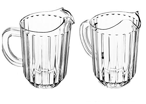 Plastic Restaurant Water Pitcher 60 Ounce Clear BPA Free Set of 12 ()