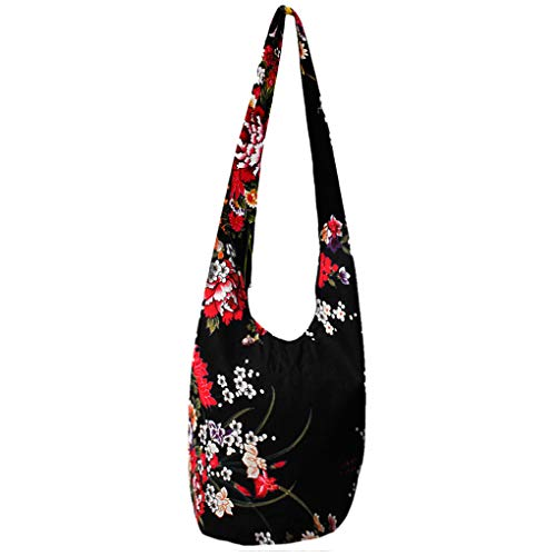 WITERY Women's Sling Crossbody Bags Large Shoulder Shopping Hobo Bag Handbag Top Zip Bags Handmade Messenger Bag Wallet