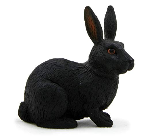 Mojo Fun 387029 Black Rabbit - Realistic Forest / Countryside Wildlife Toy Replica