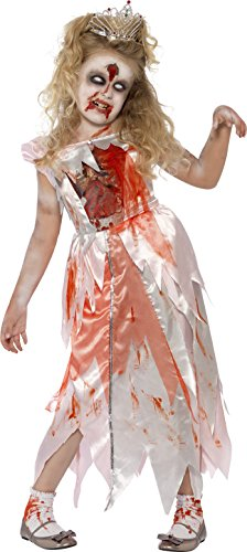 [Smiffy's Children's Sleeping Zombie Princess Costume, Bloody Dress, Ages 7-9,] (Zombie Fancy Dress Costumes Uk)