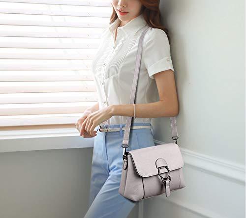 XNQXW small bag bag ladies bag Grey bandolera Messenger bag leather Women's Light Bolsos shoulder summer soft rqpUwSn8rX