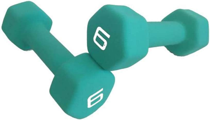 Exercise Weights for Core and Strength Training,6lb Available 1LB-10LB Dumbbells Weight Set Cast Iron Hex Dumbbell for Child Women and Men