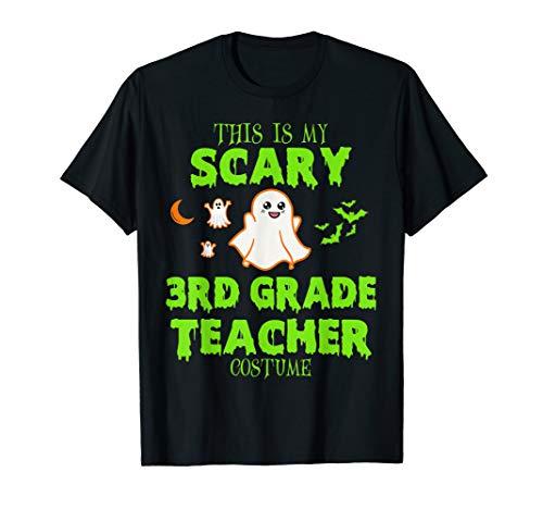 Scary 3Rd Grade Teacher Costume Halloween T-Shirt ()