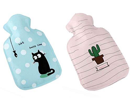 Children's Hot Water Bottle/Hand Warmer, Cartoon Cat and Cactus ()