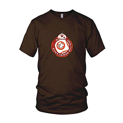 Join BB8 - Herren T-Shirt, Größe: L, Farbe: braun