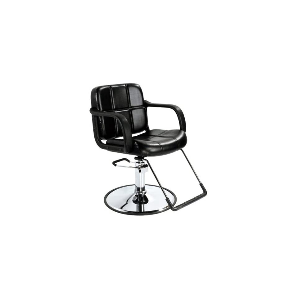 Professional Hydraulic Styling Salon Barber Chair Black