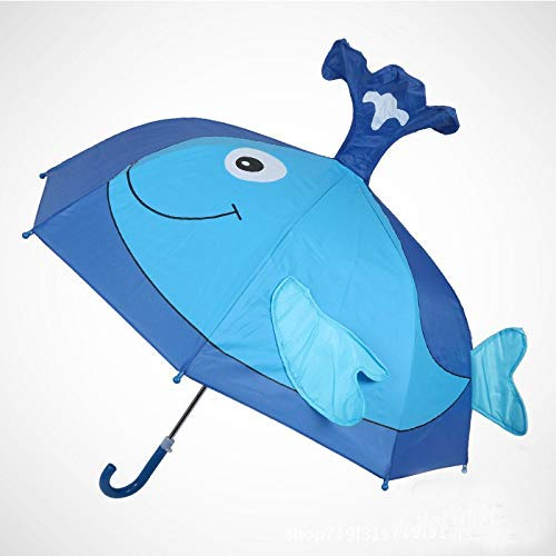 GONGFF Paraguas Niños de Dibujos Animados Mango Largo Lluvia ...