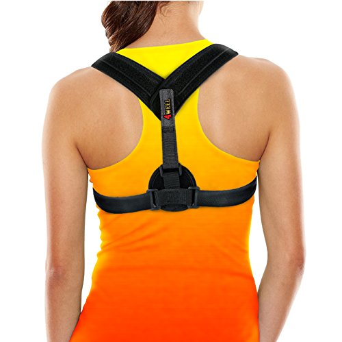 Back Posture Corrector Brace - perfect for Womens, Mens & Teens. Improve your posture with Best Elastic Posture Shoulder Back brace. Figure 8 Brace Clavicle Small / Medium
