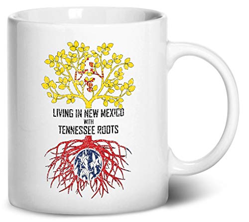 Tenacitee Living In New Mexico with Tennessee Roots Coffee Mug, 11oz, White