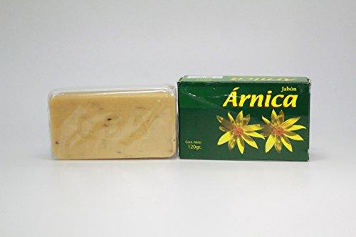 Soulage bosses, ecchymoses, stimulant la circulation sanguine. Savon Arnica Arnica De Jabon