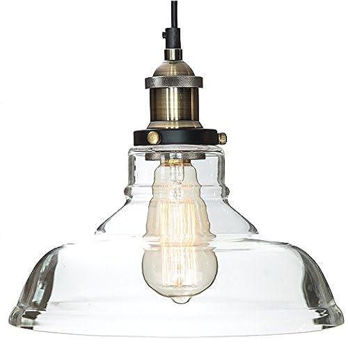 Glass Pendant Light The Loft With Vintage Edison Light Bulb ($7 Value)    Gorgeous Vintage Light Fixture, Single Bulb Chandelier Lighting    Industrial Design ...
