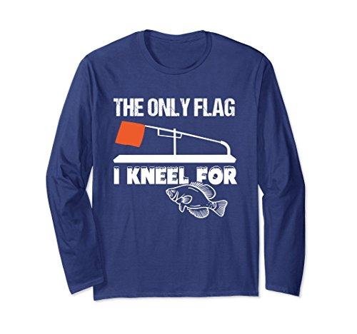 Unisex Ice Fishing Funny Tip Up Flag Long Sleeve T Shirt XL: Navy (Funny Ice)
