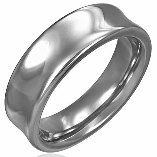 Concave Tungsten Carbide Band Ring - Urban Male Solid Tungsten Carbide 7mm Concave Polished Band Ring Men's (11)