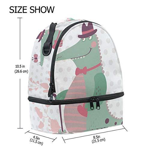 Bolsa con correa escuela la de de de de almuerzo ajustable pincnic aislamiento con Alinlo dinosaurio hombro para f0w4dqf