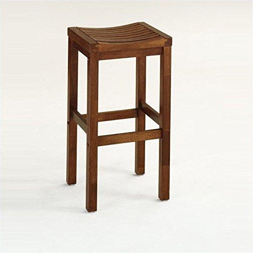 Home Style 5636-88 Cottage Oak Finish Bar Stool, 24-Inch (24 Wood Bar Stools)