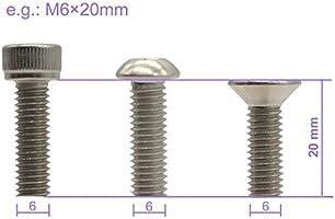 3mm Qty 20 Countersunk Head Socket M3 x 30mm Stainless Screw 304 CSK Flat