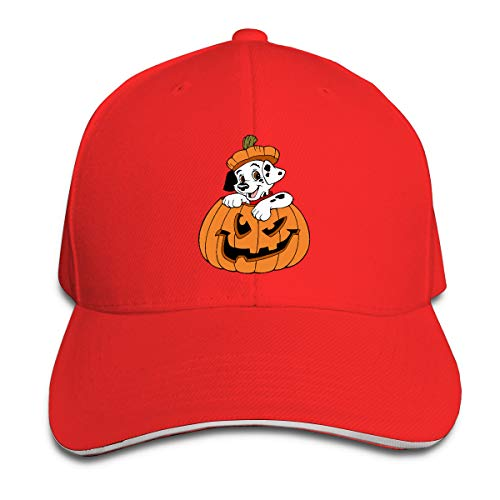 (Puppy Clipart Halloween Adjustable Sandwich Cap Hip Hop for Men and Women)