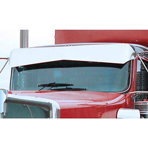 11 Inch Aluminum Reverse Bowtie Drop Visor Fits Kenworth -