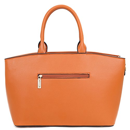 Dasein Fashion Faux Leather Work Tote, Satchel, Shoulder Bag, Handbag