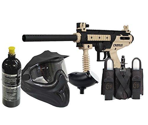 Mil Sim Paintball Semi Auto Cronus Gun Set 20oz tank, goggles, loader, harness