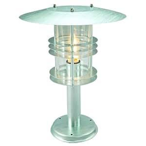 Elstead Lighting Stockholm Galvanised Pedestal Lantern