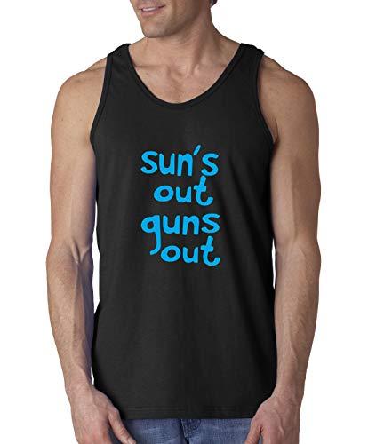 Trendy USA 203 - Men's Tank-Top Sun's Out Guns Out 22 Jump Street Funny XL Black