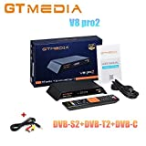 GTMedia V8 pro2 H 265 Full HD 1080P DVB-S2 DVB-T2 DVB-C Satellite Receiver  Support PowerVu, Biss Key Built-in WiFi