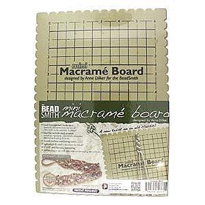 - Beadsmith MWB10 Macrame Board, Mini - 9 x 6 Inches