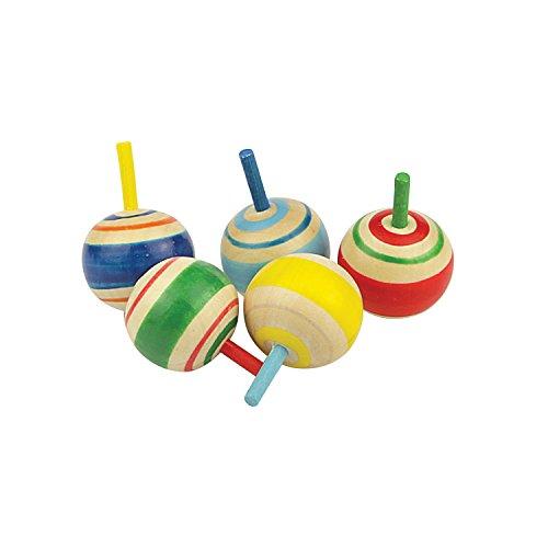 Riviera Games - 17631 - 5 Mini Toupies en Bois