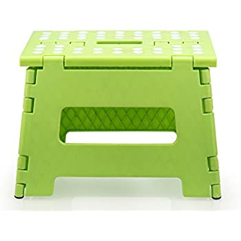 Stepsafe Non Slip Folding Step Stool for Kids and Adults with Handle- 9  in  sc 1 st  Amazon.com & Amazon.com: Jeronic 11-Inch Plastic Folding Step Stool Green ... islam-shia.org