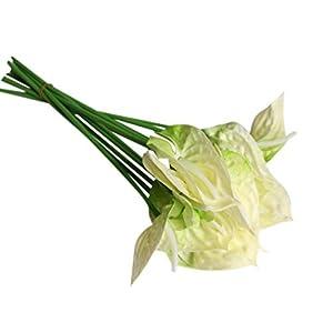20Pcs Artificial Anthurium Flowers Real Touch Fake Flower for Home Decor Floral Arrangements Bouquets 49
