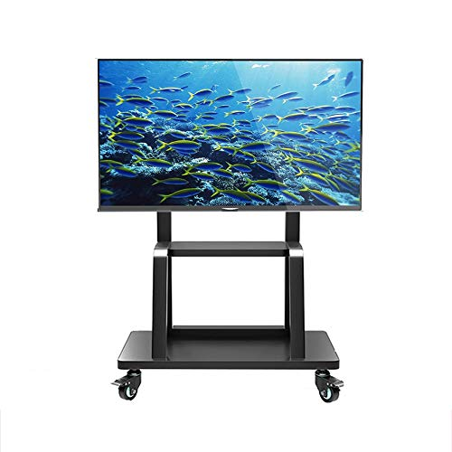 95 Inch Pedestal - Swivel TV Stand/Base Table Top TV Stand 55 to 95 Inch TVs 45 Degree Swivel, Heavy Duty Tempered Glass Base - Black