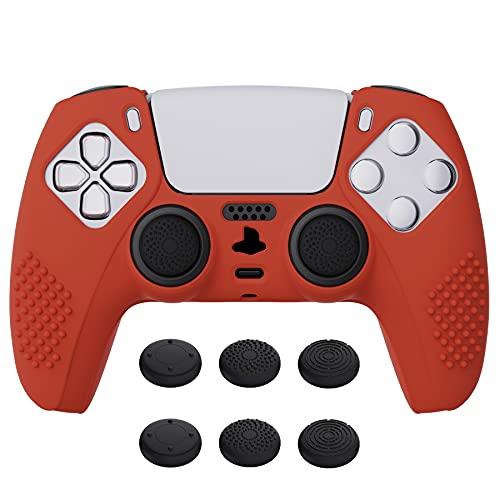 funda + sticks control playstation 5 Extremerate azul red