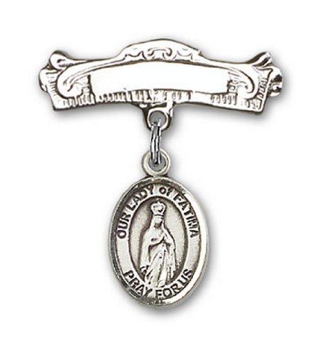 Icecarats Créatrice De Bijoux En Argent Sterling O / L De Charme De Fatima Broches Badge Arc 7/8 X 7/8