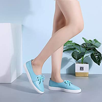 f4fd0174e4479 KneaBorn Womens Fashion Leather Loafers Casual Flat Slip on Shoes ...