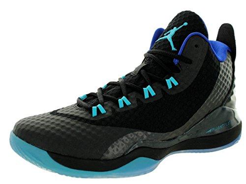 Nike Jordan Men's Jordan Super.Fly 3 Po Black/Trqs Blue/Gm Ryl/White Basketball Shoe 12 Men US