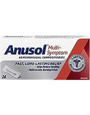 Anusol Multi-Symptom Hemorrhoidal Suppositories, 24 Count