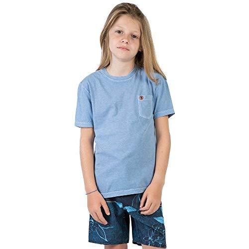 T-Shirt Com Bolso Lisa Infantil Masculino Azul Claro Azul Claro/08