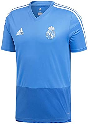 finest selection ed2b3 ca3a8 Adidas Men's Real Madrid Training Jersey (Short Sleeve) Blue ...