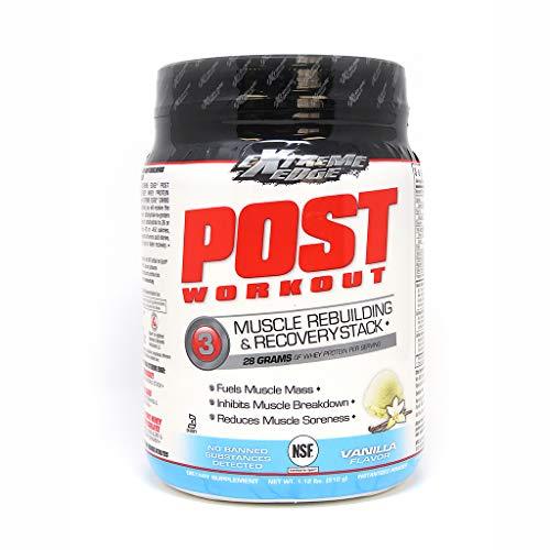 Bluebonnet Nutrition Extreme Edge Post Workout Powder, Vanilla Flavor, 1.12 Pound