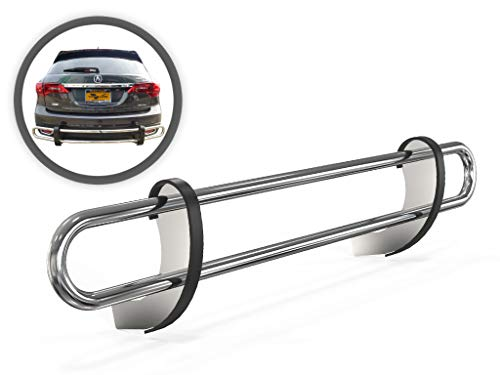 VGRBG-0712-0896SS Stainless Steel Multi-fit Double Tube Rear Bumper Guard Acura Mdx Rear Bumper
