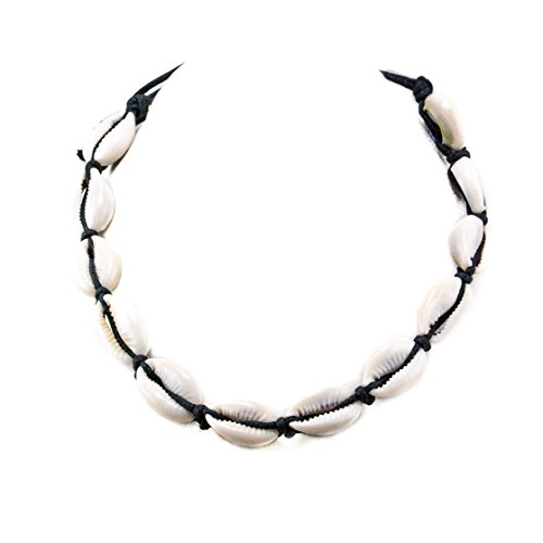 Cowrie Shell On Black Cord Cho