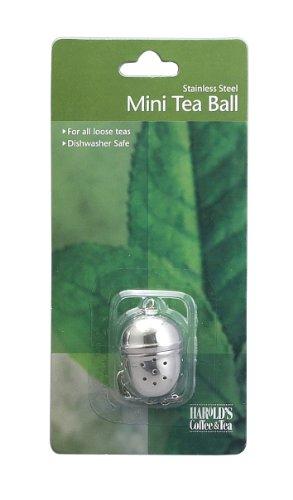 HIC Loose Tea Leaf Mini Tea Ball and Herbal Infuser, 18/8 Stainless Steel, Pierced Tea Ball, 1.25-Inch x 1.5-inch