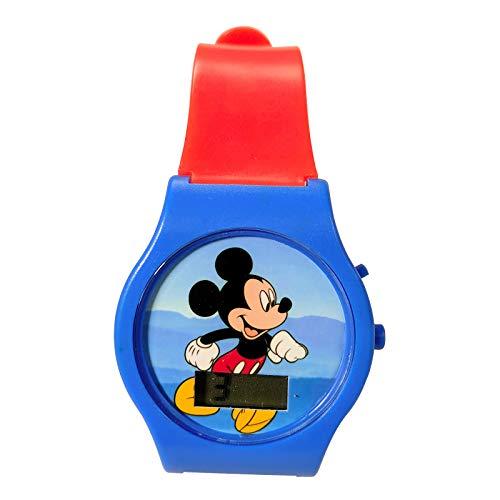 Lcd Mouse - KidPlay Products Mickey Digital LCD Wrist Watch Kids Adjustable Strap - Orange